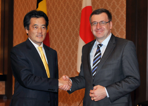Japan-Belgium Foreign Ministers' Meeting (Photo)