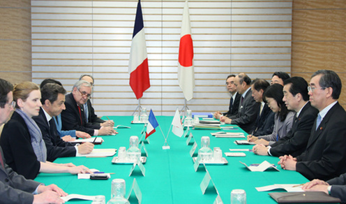 (Photo:Japan-France Summit Meeting)