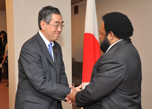 (Photo:Japan-Papua New Guinea (PNG) Foreign Ministers' Meeting)