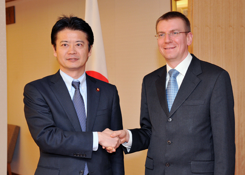 (Photo)Japan-Latvia Foreign Ministers' Meeting (Outline)-1