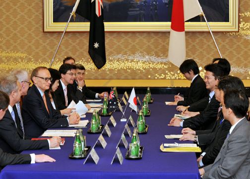 (Photo)Japan-Australia Foreign Ministers' Meeting-2