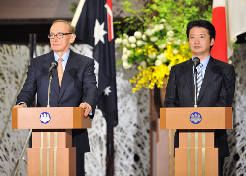 (Photo)Japan-Australia Foreign Ministers' Meeting-3