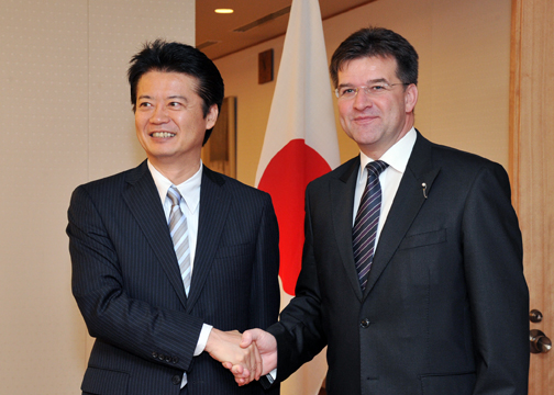 (Photo)Japan-Slovakia Foreign Ministers' Meeting (Outline)-1