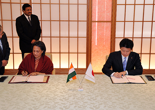 Mofa Signing Of The Agreement Between Japan And Republic Of India