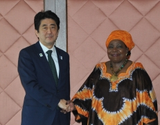 Meeting between Prime Minister Abe and H.E. Dr. Nkosazana Clarice DLAMINI-ZUMA, Chairperson of the Commission of the African Union (AU)
