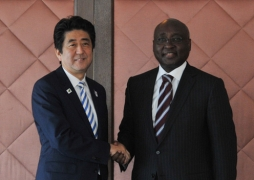 Meeting between Japanese Prime Minister Shinzo Abe and Dr. Donald Kaberuka, President of the African Development Bank