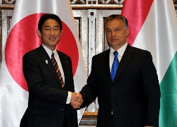 Foreign Minister Kishida's Courtesy Call<br> on Hungarian Prime Minister Orbán