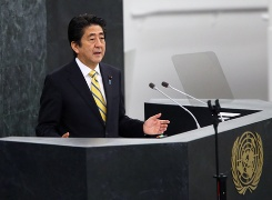 Prime Minister Shinzo Abe<br> (Photo: Cabinet Public Relations Office)