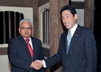 Japan-Nepal Foreign Ministers' Meeting (October 8, 2014)