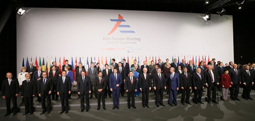 ASEM 10 Summit Meeting (October 15- 18, 2014)(Photo: Cabinet Public Relations Office)