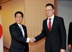 Japan-Hungary Foreign Ministers' Meeting 1