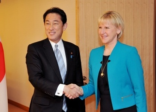 Japan-Sweden Foreign Ministers' Meeting 1