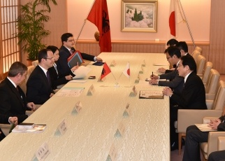 Japan-Albania Foreign Ministers' Meeting 2