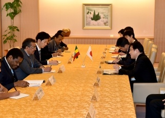 Japan-Ethiopia Foreign Ministers' Meeting 2