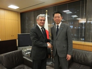State Minister Muto receives a Courtesy Call from Member of European Parliament 1