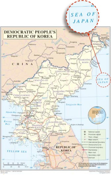 UN And US Use Sea Of Japan Ministry Of Foreign Affairs Of Japan - Map of us and japan