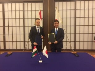 Signing of the Japan-Hungary Working Holiday Agreement 2