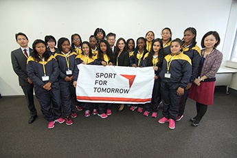 (photo1) Colombian women rugby team visit Japan