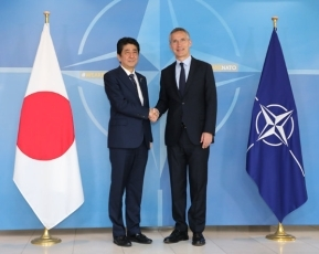 photo1: Prime Minister Shinzo Abe Meets with the Secretary General of NATO