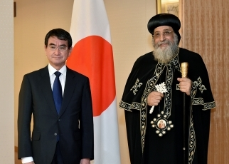 Meeting between Foreign Minister Kono and Coptic Pope Tawadros II 2