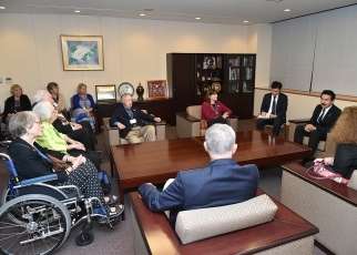 State Minister Sato Receives a Courtesy Call from a POW3