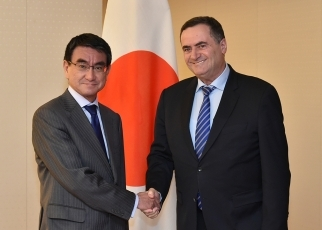 photo1: Courtesy call on Foreign Minister Taro Kono by H.E. Mr. Israel Katz, Minister of Transportation and Road Safety and Minister of Intelligence of Israel