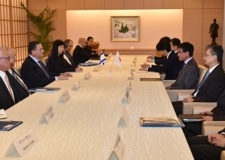 photo2: Courtesy call on Foreign Minister Taro Kono by H.E. Mr. Israel Katz, Minister of Transportation and Road Safety and Minister of Intelligence of Israel