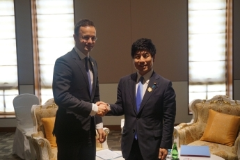 State Minister for Foreign Affairs Kazuyuki Nakane Meets with the Minister of Foreign Affairs and Trade of Hungary