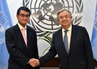 Foreign Minister Kono Meets with the Secretary-General of the United Nations1