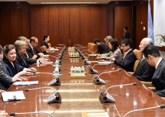 Foreign Minister Kono Meets with the Secretary-General of the United Nations2