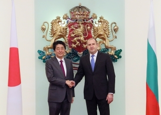 Photograph of the Prime Minister paying a courtesy call on the President of Bulgaria