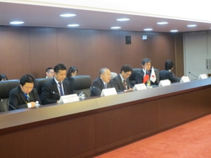 (Photo 2) The Fourth Intergovernmental Consultation on Cooperation between Japan and the Czech Republic in the Field of Science and Technology