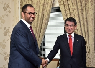 Foreign Minister Kono Receives a Courtesy Call from Dr. Sultan Al Jaber, Minister of State of the United Arab Emirates1