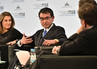 Foreign Minister Kono attended Munich Security Conference