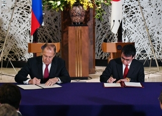 photo3:The two sides signed the 2018-2019 Japan-Russia Inter-Foreign Ministry Consultation Plan