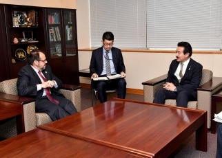 Meeting between State Minister Sato and the Minister of Foreign Trade of the Republic of Costa Rica 2