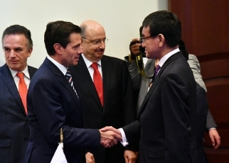 Foreign Minister Kono pays a courtesy call on President of the United Mexican States1