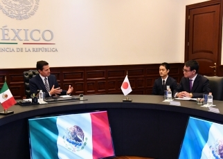 Foreign Minister Kono pays a courtesy call on President of the United Mexican States2