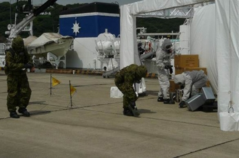 (Photo 12) Detection by Kanagawa Prefectural Police Counter NBC Terrorism Special Team and JGSDF NBC Team