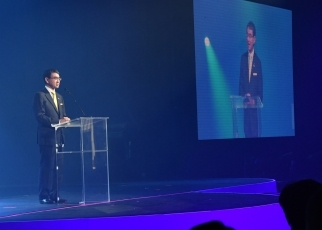 (Photo2) Minister for Foreign Affairs Taro Kono delivered opening speeches