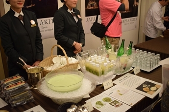 (Photo 9) Promoting Edamame products at the Seminar