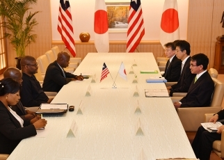 Japan-Liberia Foreign Ministers' Meeting 2