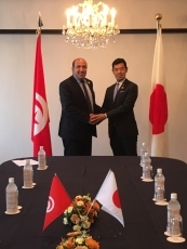 Meeting between Parliamentary Vice-Minister for Foreign Affair Tsuji and the Secretary of State for the Minister of Foreign Affairs in charge of Economic Diplomacy of the Republic of Tunisia 1