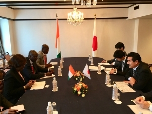 Meeting between State Minister Sato and the Minister of Planning and Development of the Republic of Côte d'Ivoire 2