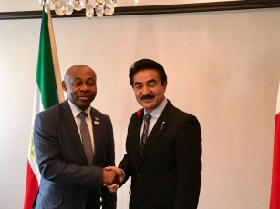 Meeting between State Minister Sato and the Deputy Minister for Foreign Affairs and Cooperation of the Republic of Equatorial Guinea 1