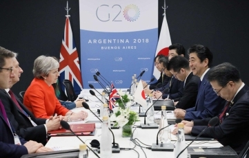 (Photo2) Japan-UK Summit Meeting 2
