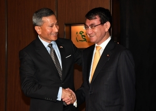 Japan-Singapore Foreign Ministers' Meeting 1