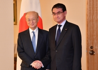 Foreign Minister Taro Kono Meets with the Director General of the International Atomic Energy Agency 1