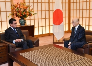 Foreign Minister Taro Kono Meets with the Director General of the International Atomic Energy Agency 2