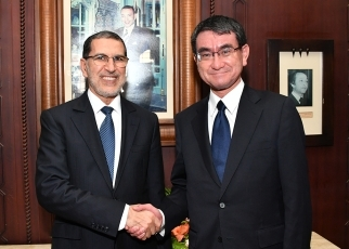 Foreign Minister Kono Pays a Courtesy Call on H.E. Mr. Saad Dine EL OTMANI, Head of Government of the Kingdom of Morocco